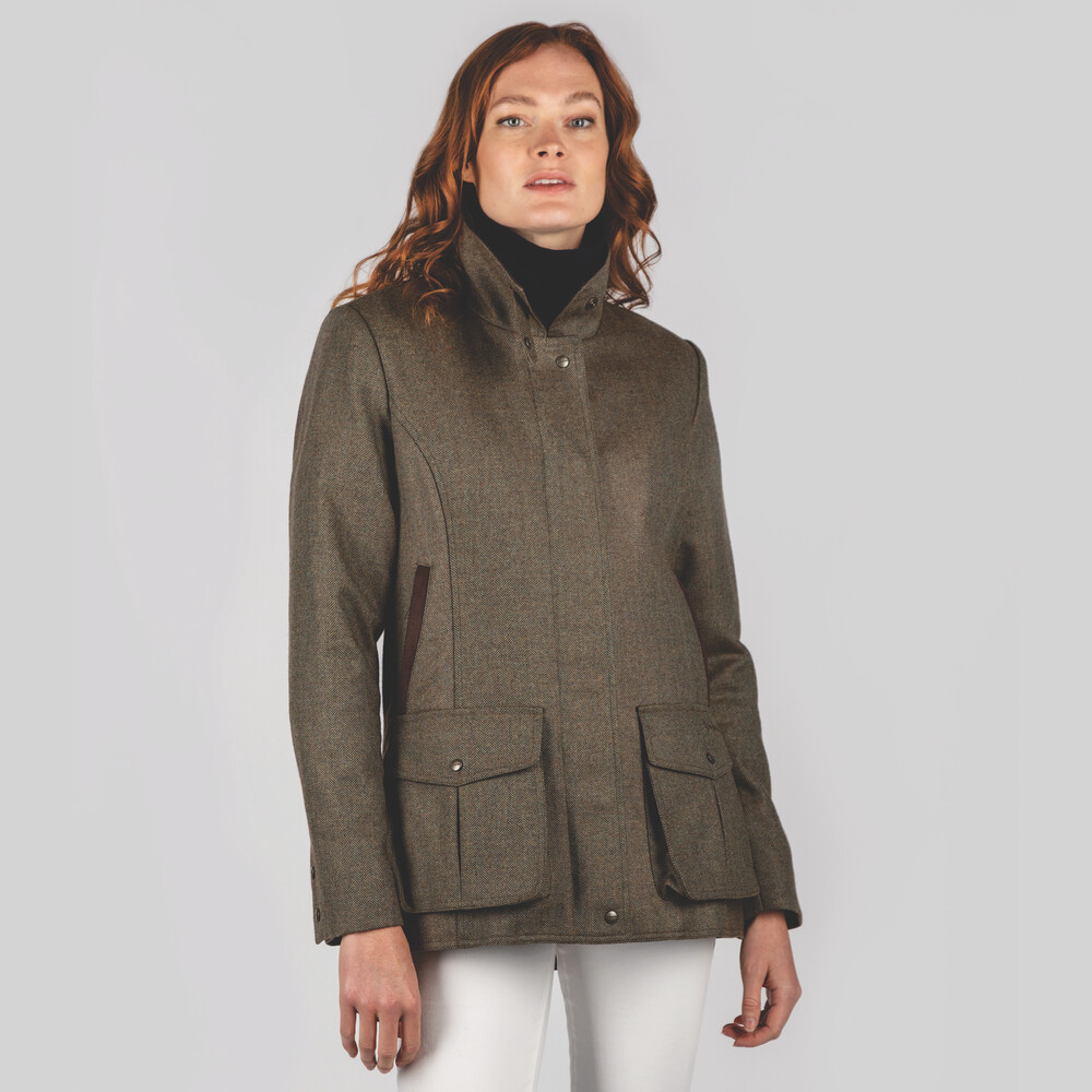 Lilymere Jacket Loden Green Herringbone Tweed