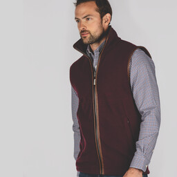 Oakham Fleece Gilet Fig