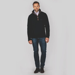 Schoffel Country Berkeley 1/4 Zip Fleece in Navy