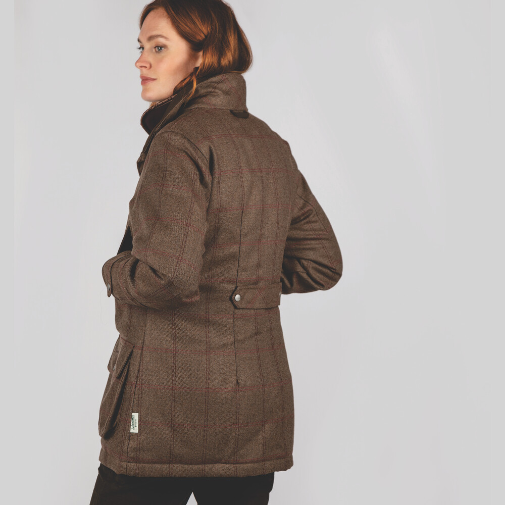 Ladies Ptarmigan Tweed Coat Sussex Tweed