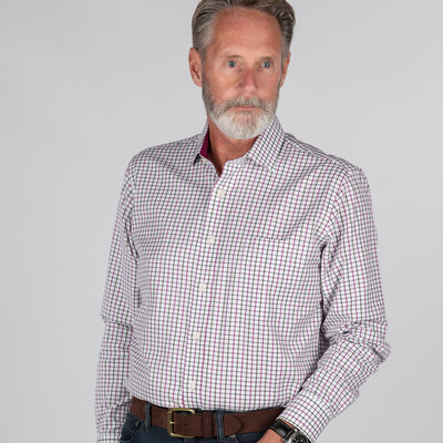 Burnham Tattersall Classic Shirt Ruby Check