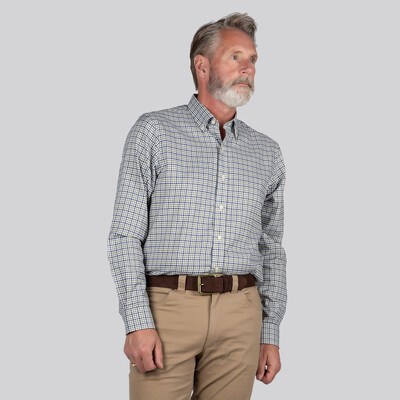 Banbury Classic Shirt Blue/Olive Check