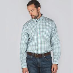 Holkham Classic Shirt Green Check