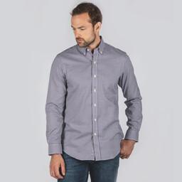Burnsall Tailored Shirt Navy/Fig Micro