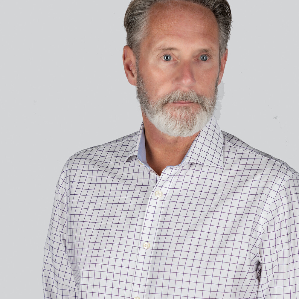 Greenwich Classic Shirt Navy Check