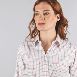 Ashley Tattersall Shirt Dusty Pink Tattersall