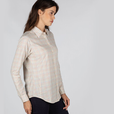Ashley Tattersall Shirt Grey Tattersall