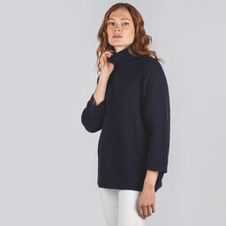 Schoffel Country Merino Loose Fit Jumper in Navy