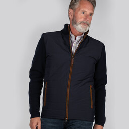 Schoffel Country Hybrid Aerobloc Jacket in Navy