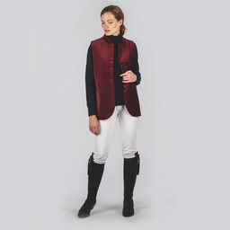 Schoffel Country Ladies Nehru Waistcoat in Ruby