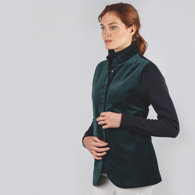 Schoffel Country Ladies Nehru Waistcoat in Kingfisher