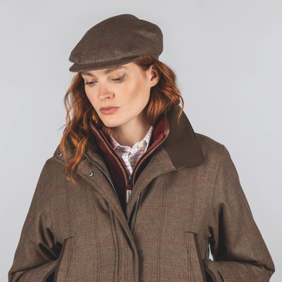 Schoffel Country Ladies Tweed Cap in Sussex Tweed