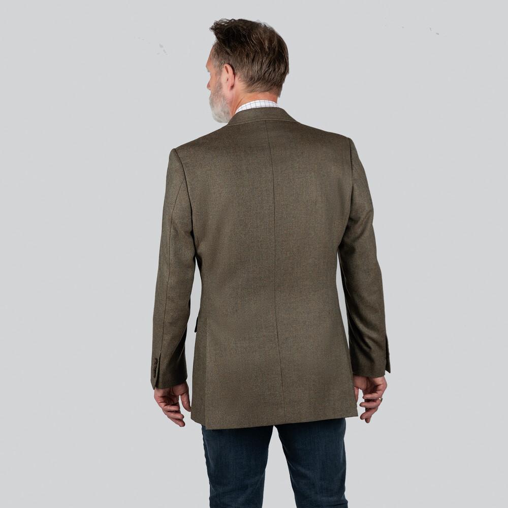 Belgrave Tweed Sports Jacket Loden Green Herringbone Tweed