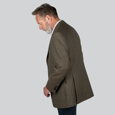 Belgrave Tweed Sports Jacket Loden Green Herringbone Tweed