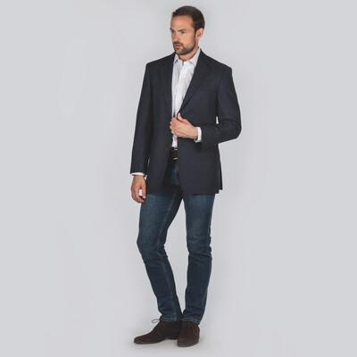 Belgrave Tweed Sports Jacket Navy Herringbone Tweed