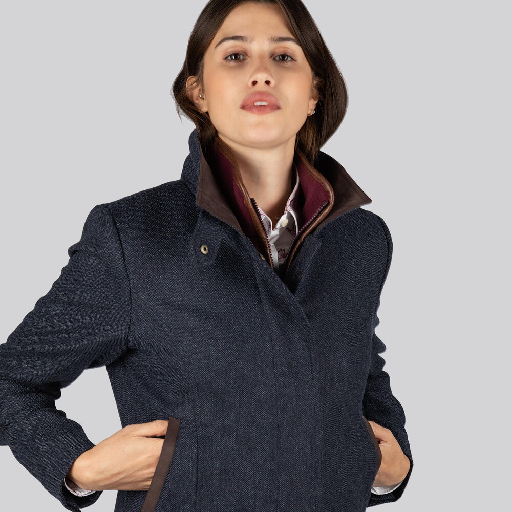 Lilymere Jacket Navy Herringbone Tweed