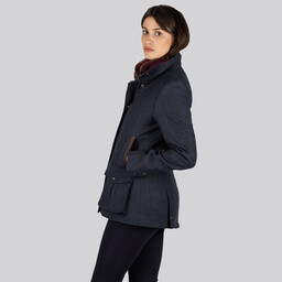 Lilymere Jacket Navy Herringbone Tweed