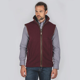 Schoffel Country Oakham Fleece Gilet in Fig