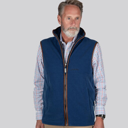 Schoffel Country Oakham Fleece Gilet in Cobalt Blue