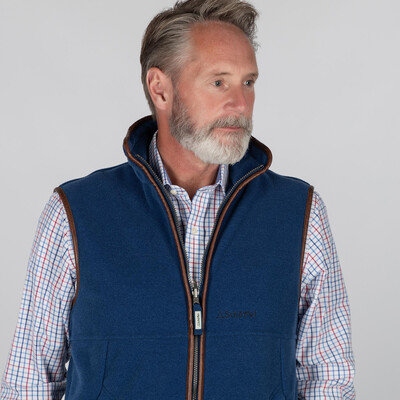 Oakham Fleece Gilet Cobalt Blue