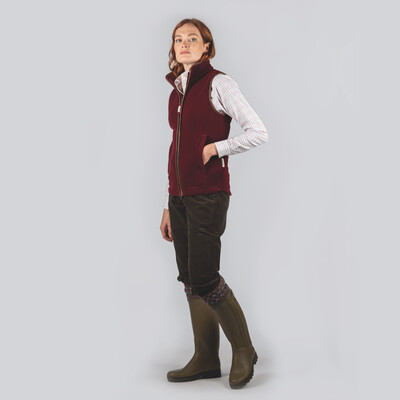 Schoffel Country Lyndon Fleece Gilet in Ruby