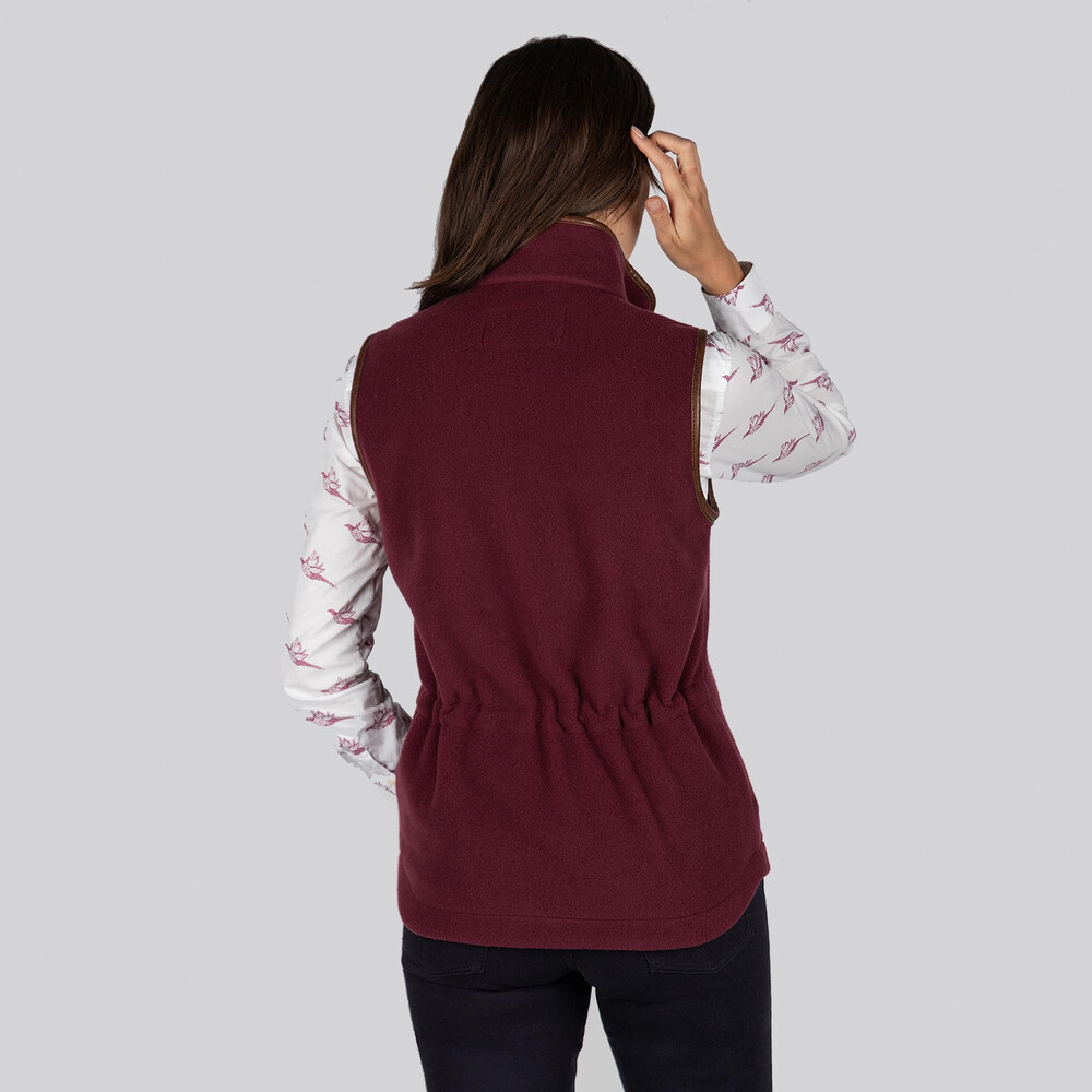 Lyndon Fleece Gilet Fig