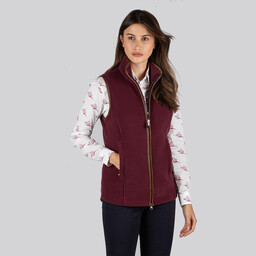 Schoffel Country Lyndon Fleece Gilet in Fig