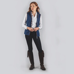 Schoffel Country Lyndon Fleece Gilet in Cobalt Blue