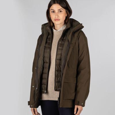Schoffel Country Langham Coat in Dark Olive
