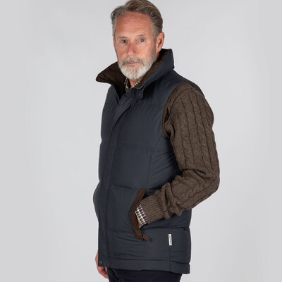 Twickenham Down Gilet Weathered Navy