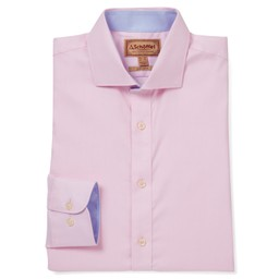 Schoffel Country Greenwich Tailored Shirt in Pale Pink Diagonal