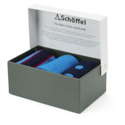 Schoffel Country Bamboo Sock (Pack of 3) in Sea Blue Mix