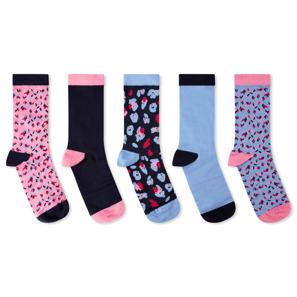 Ladies Bamboo Sock (Box of 5) Dusty Pink Mix
