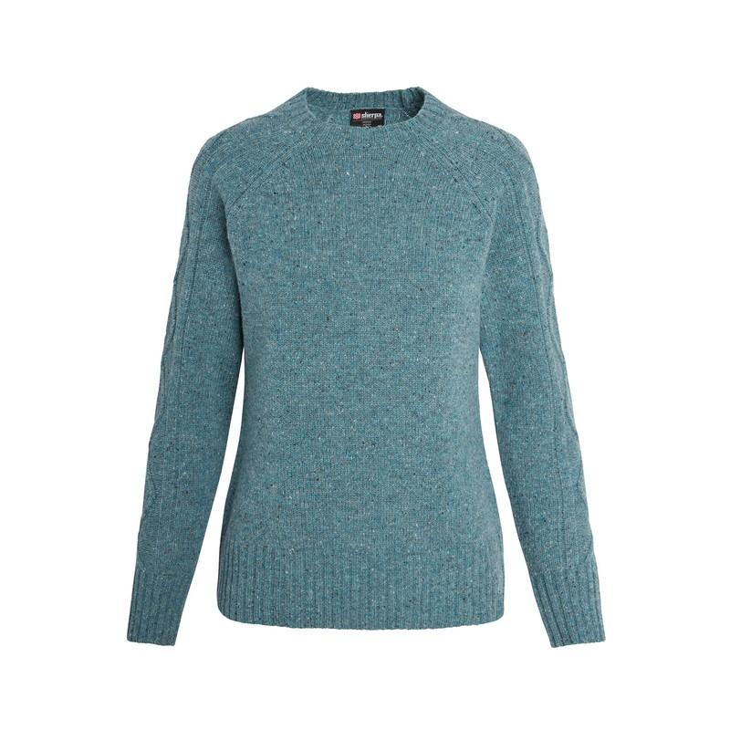 Sera Crew Sweater - Mechi Green
