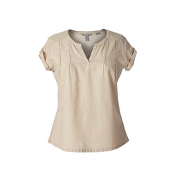 Royal Robbins Cool Mesh Eco S/S Top in Lt Khaki Dot Print