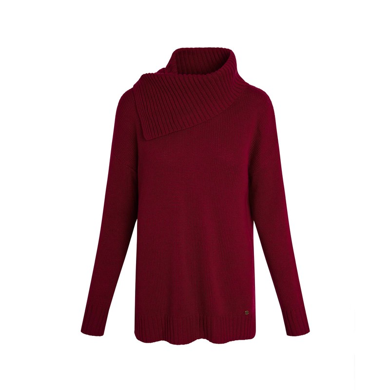 Khando Rolled Neck Tunic - Sabi Berry