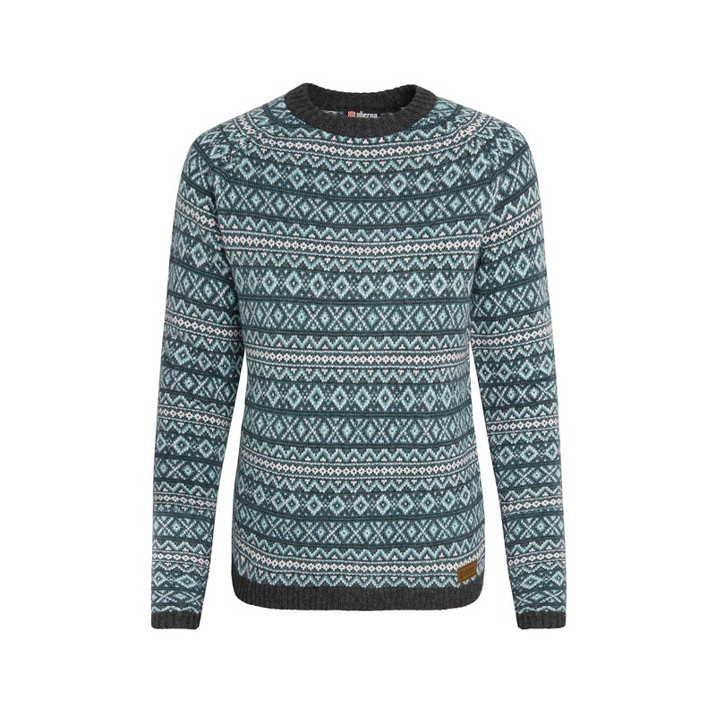 Paro Crew Sweater - Rathna Green
