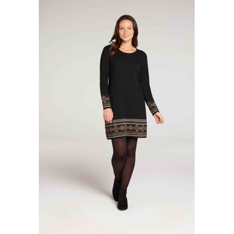 Maya Jacquard Dress Black