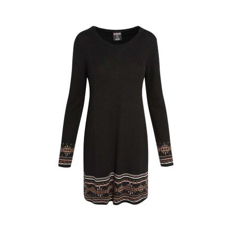 Maya Jacquard Dress Black