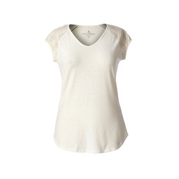 Royal Robbins Flynn S/S Top in Creme