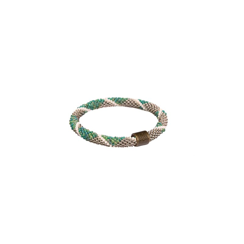 Mayalu Diamond Roll On Bracelet - Rathna Green