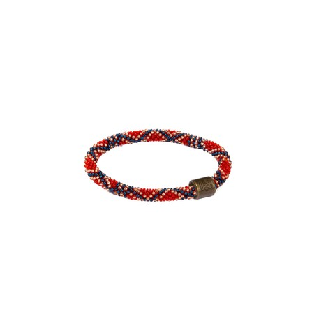 Mayalu Basket Roll On Bracelet Dalle Red