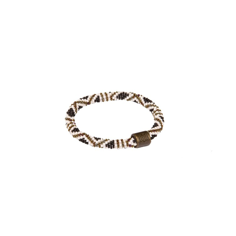 Mayalu Basket Roll On Bracelet - Jeera Olive