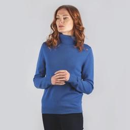 Schoffel Country Ladies Merino Roll Neck in Cobalt Blue