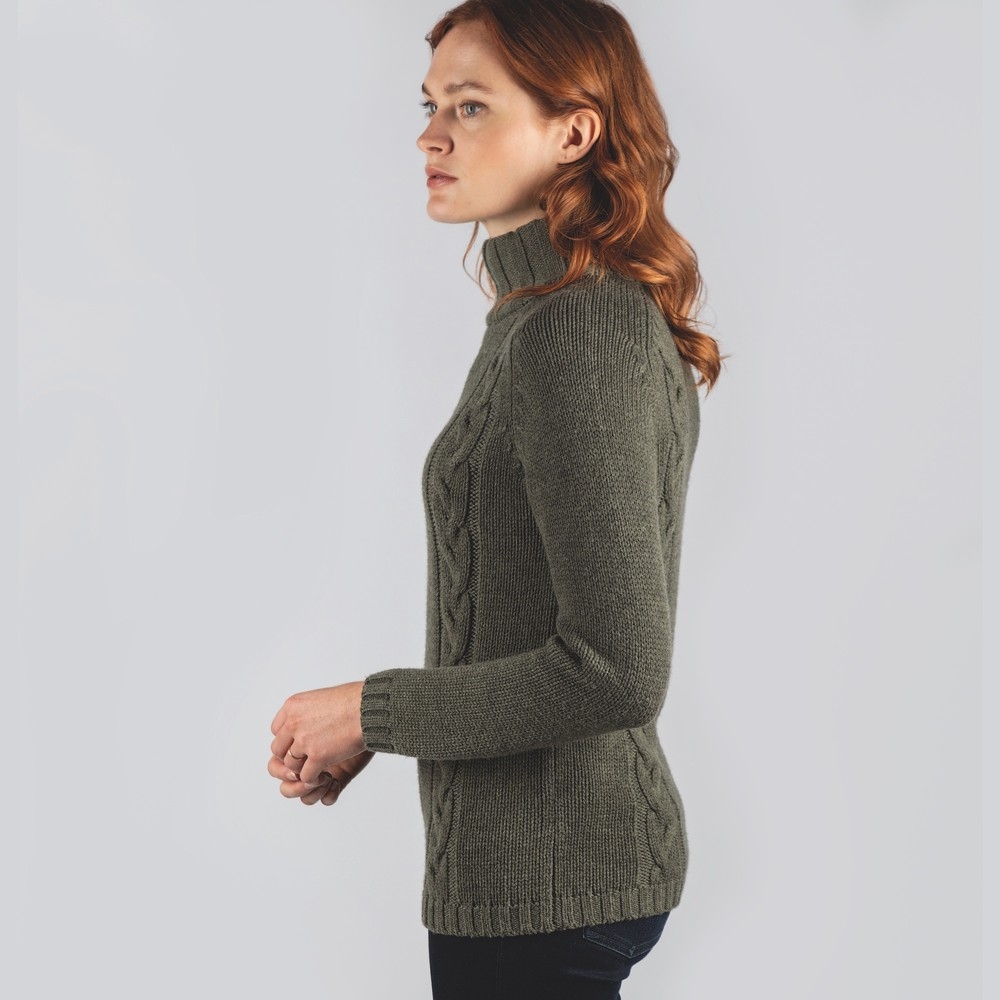 Merino Cable Roll Neck Grousemoor