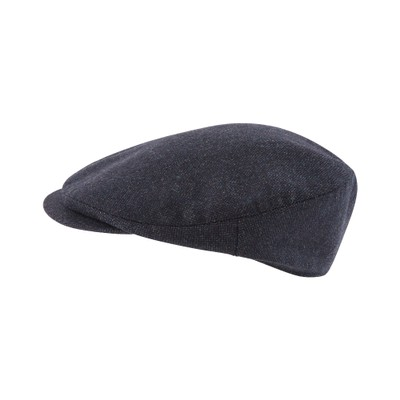 Schoffel Country Countryman Tweed Cap in Navy Herringbone Tweed