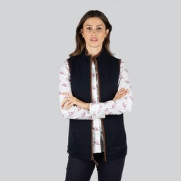 Ladies Lambswool Aerobloc Gilet Navy
