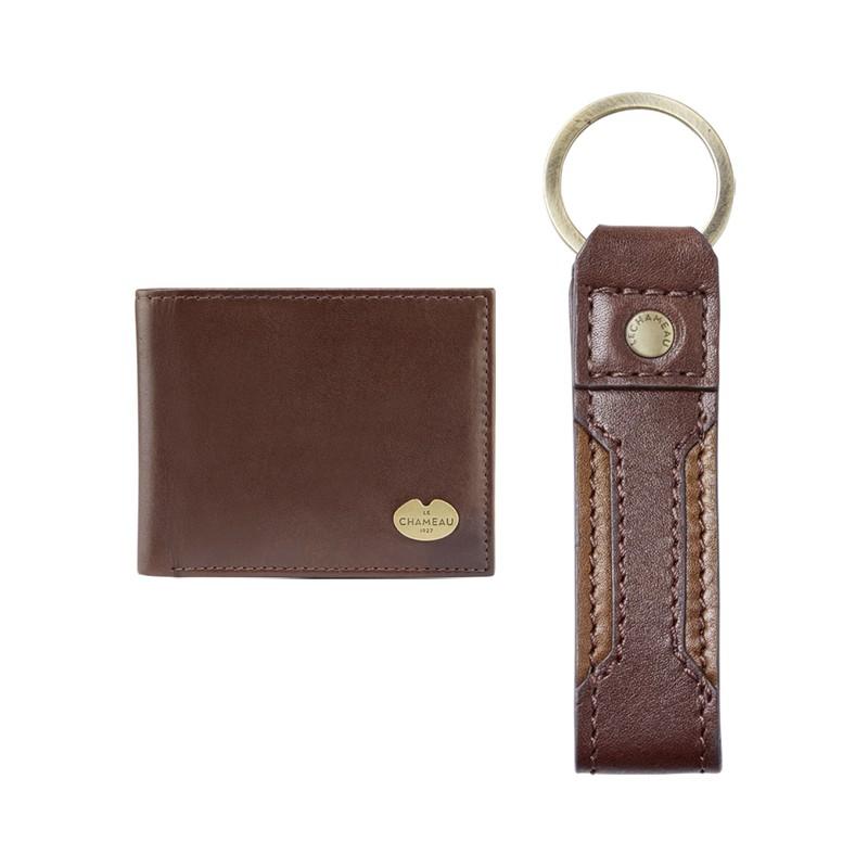 Coffret cadeau porte-clés et portefeuilles à double volet