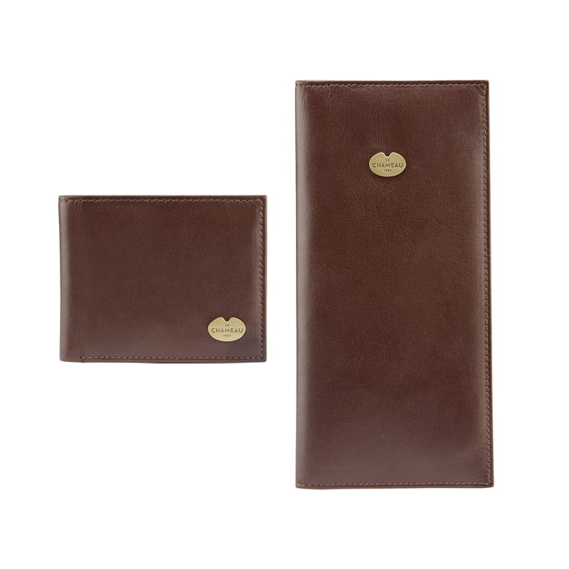 Coffret cadeau portefeuille pour permis et portefeuille à double volet