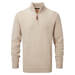 Schoffel Country Lambswool Chunky 1/4 Zip in Oatmeal